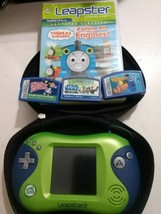 Leap Frog Leapster 2 Learning Game System w/Case & 4 Games Kids Portable... - $29.65