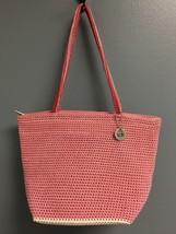 THE SAK Women's Pink Nylon Woven Zip Top Medium Thin Strap Shoulder Bag ... - $32.18
