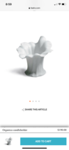 LIADRO FLOWER ORGANICA CANDLE HOLDER RETIRED IN BOX CARDS - $37.16