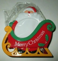 New Plastic 5 pc Santa Coaster Set Jolly Santa #1222 - $5.00