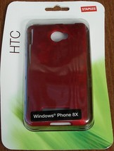 Staples Htc Windows Phone 8X Hard Case - Red - Brand New In Package - $9.89