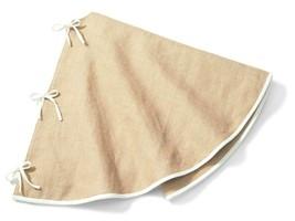 "NEW Wondershop for Target 56"" Diameter Burlap w White trim Christmas Tree Skirt image 2"