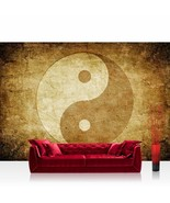 Yin yang peace photo mural vintage size xxl wall office home decoration - $95.56+