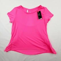 Under Armour Women's Whisperlight Short Sleeve Foldover Shirt Size S Pin... - $17.32
