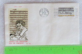 Mexico FDC - Beethoven Ode to Joy & Signature airmail stamp SC # C375, VG++ - $9.99