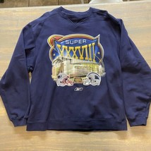 Super Bowl 38 Xxxviii Pullover Sweatshirt Patriots Panthers Team Apparel... - $11.88