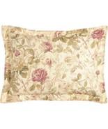 Ralph Lauren Wilton Rose Floral Burgundy Beige Green Gold Euro Sham - $49.98