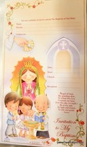 Invitations Bautizo English Christening baptism Party 10 Invitaciones Virgencita - $6.88