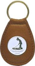 Pinehurst Leather FOB Leather Keychain - White Logo - $16.78