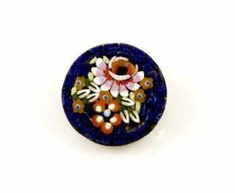 Vintage Italian Mosaic Floral  Brooch 1940'S - $17.00