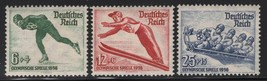 1936 Winter Olympics Set of 3 Germany Postage Stamps Catalog Number B79-81 MNH