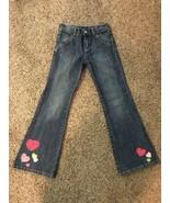Girls Gymboree Flare Jeans Hearts Detail Sz 10 Slim - $5.00