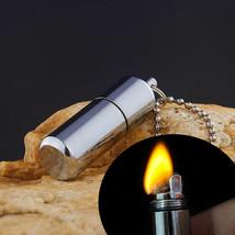 Keychain Waterproof Fire Starter Capsule Oil Gas Lighter image 2