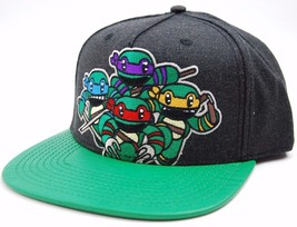 Nickelodeon Teenage Mutant Ninja Turtles Attack Textured Bill Snapback C... - $20.85