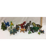 Dinosaurs Toys Figurines Hard Plastic Jointed Light Up Action Figures Lo... - $24.74