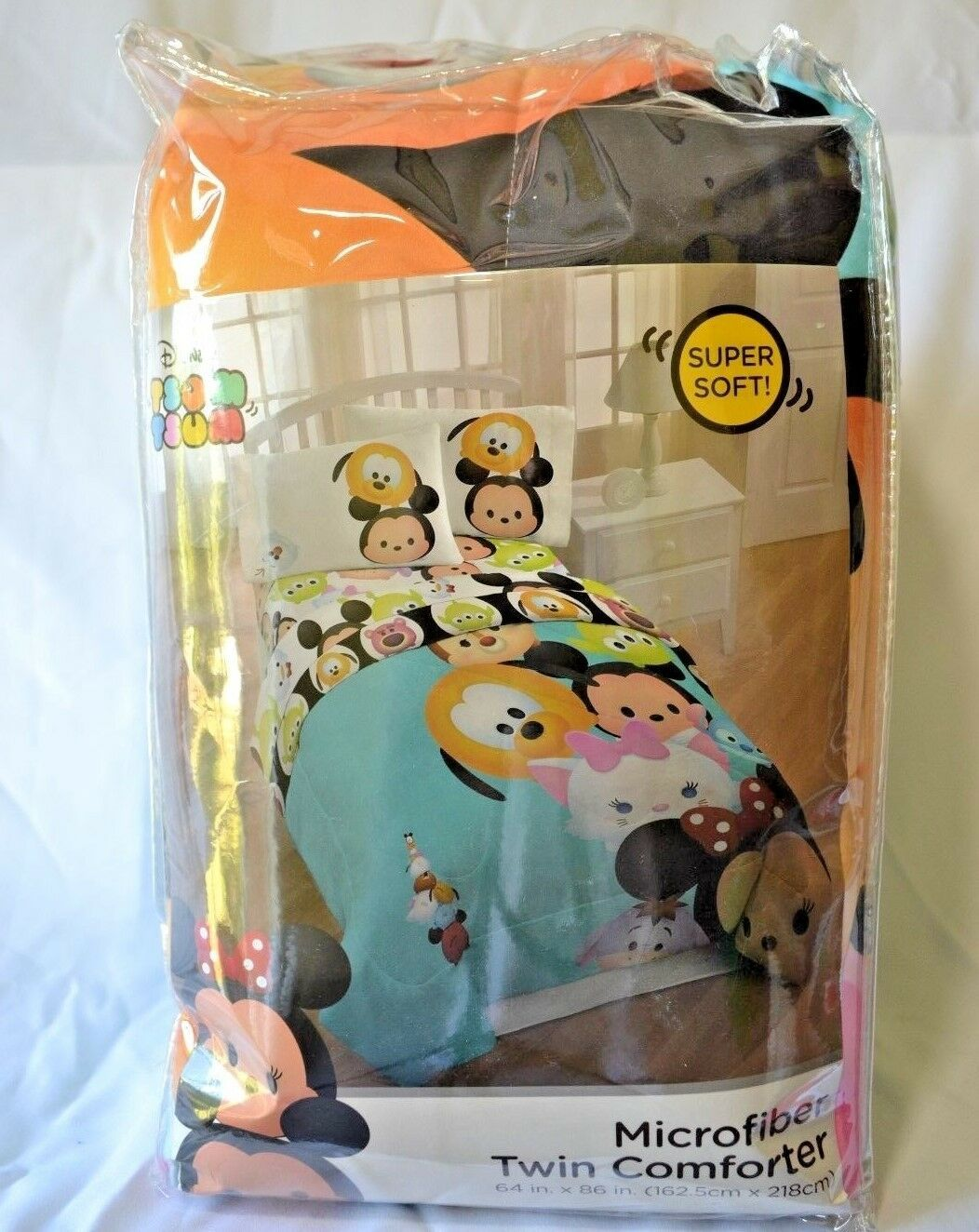 "Primary image for Disney Tsum Tsum Twin Comforter Microfiber Soft Reversible Mickey 64""x86"" NEW"