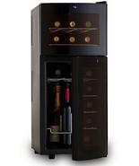 Wine Enthusiast Silent Dual Zone 21-bottle Curved-door Wine Refrigerator - $326.95