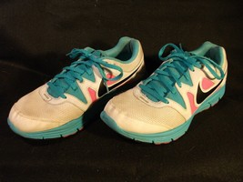 Women's Nike Lunarfly 3 White/Pink/Teal Running Shoes 487751-103 Size 9.5 - $17.59