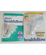 Johnsons Healthflow Stage 1 And 2 Natural Shape Nipples 0 to 6+ months New  - $19.70