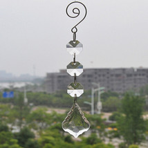 12pcs Clear Acrylic Crystal Garland Hanging Beaded Maple Leaf Wedding Or... - $6.31