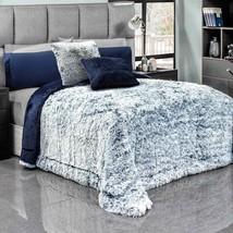 Brisa Blue Faux Fur Premium Quality Warm Platinum Super Soft Blanket - $84.10+