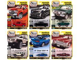 Autoworld Premium 2020 Set B of 6 pieces Release 5 1/64 Diecast Model Cars by Au - $75.79