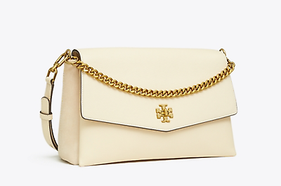NWT Tory Burch New Cream KIRA Mixed-material Double-strap Shoulder Bag $528 image 12