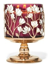 Bath & Body Works Magnolias Pedestal 3 Wick Candle Holder Stand - $23.36
