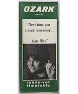 Ozark Airlines October 1, 1967 Timetable new DC-9 jets - $9.99