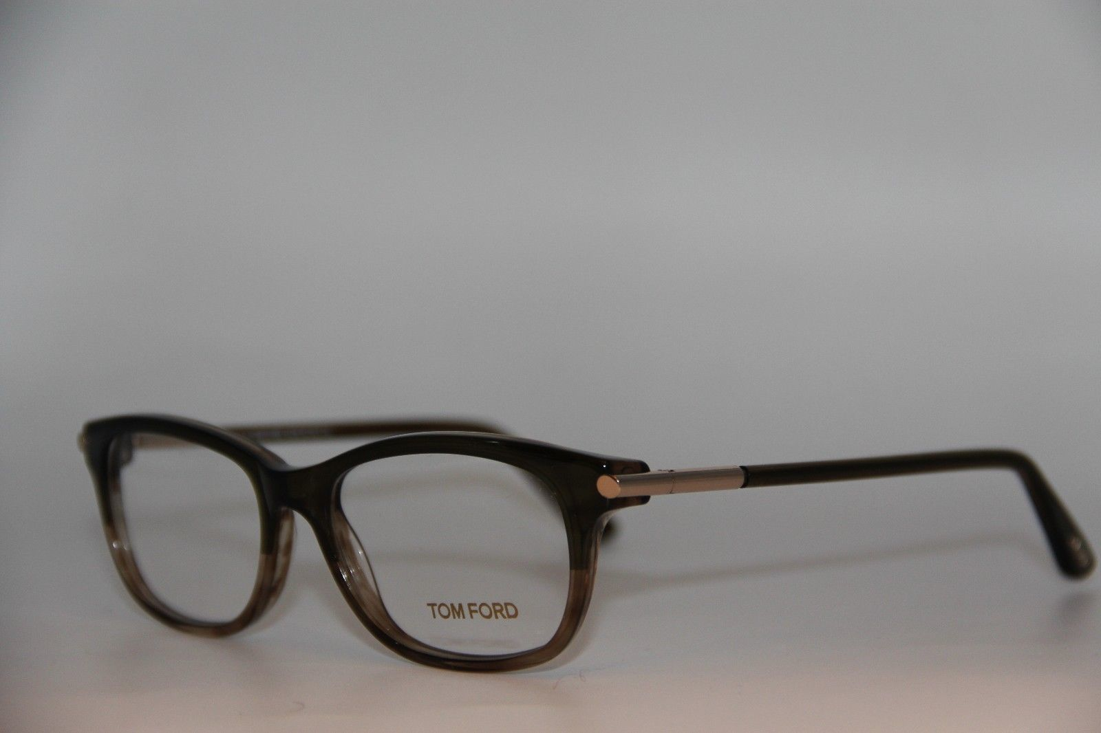 NEW TOM FORD TF 5237 098 BROWN EYEGLASSES AUTHENTIC RX TF5237 52-16 W/CASE