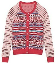 Blueberry Pet Women's Holiday Charm Fair Isle Style Cardigan Sweater Small - $18.61