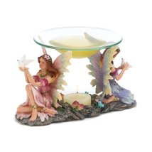 Gifts & Decor Mythical Twin Fairies Oil Warmer Tealight Candle Holder - $24.65
