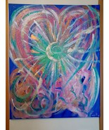 Original Painting with Andara crystal Etherium-Multi-dimensional Sacred ... - $333.00