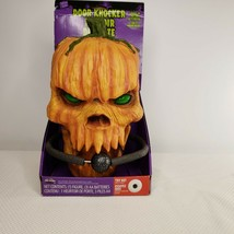 Pumpkin Head Scary Animated Door Knocker Sound Motion Activated New Hall... - $98.95
