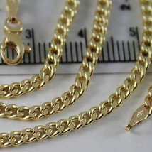 18K YELLOW GOLD CHAIN LITTLE GOURMETTE LINK 2.5 MM, 23.60 INCHES MADE IN ITALY image 2