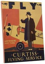 "Pingo World 0616QPJF25S ""Curtiss Flying Service Vintage"" Advertising Poster Gall - $57.37"
