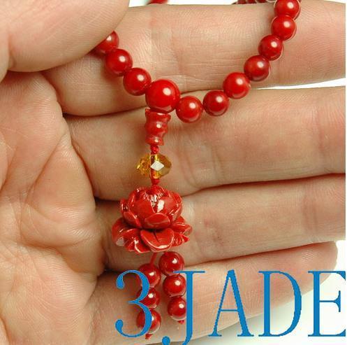 Tibetan 108 Red Coral Meditation Prayer Beads Mala image 2