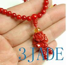 Tibetan 108 Red Coral Meditation Prayer Beads Mala image 5