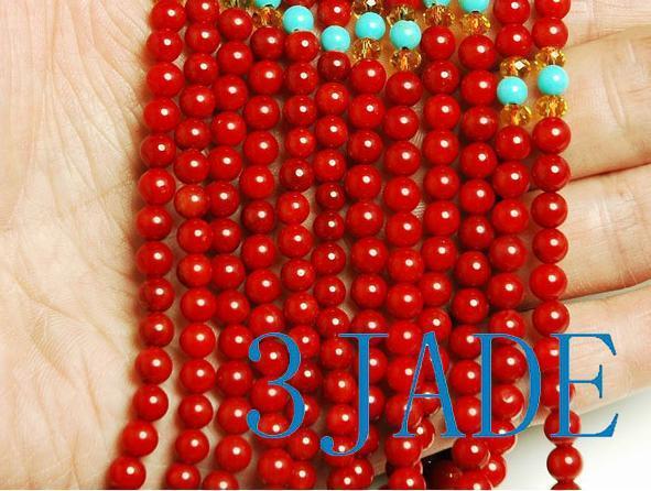 Tibetan 108 Red Coral Meditation Prayer Beads Mala image 3
