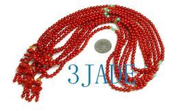 Tibetan 108 Red Coral Meditation Prayer Beads Mala image 6