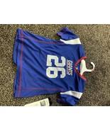 NFL New York Giants Girls' Barkley Saquon Short Sleeve Poly Top XS - $17.00