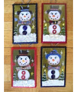 Hand Crafted Snowman Electric Double Outlet Wall Plate Cover Ornaments x4  - $12.99
