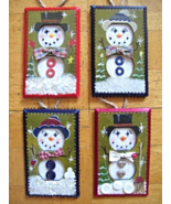 Hand Crafted Snowman Electric Double Outlet Wall Plate Cover Ornaments x4 - $15.99