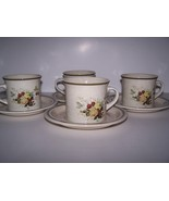4~Cups and Saucers in the Cornwall (double green trim) Pattern by Royal ... - $24.00