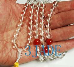 "30"" NATURAL Crystal/Quartz Meditation Prayer Beads Mala image 3"