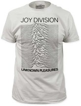 Joy Division-Unknown Pleasures-X-Large White Fitted T-shirt - $19.34