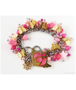 Sailor Moon Crisis Moon Compact Charm Bracelet, Gold, Pink, Stainless St... - $43.00