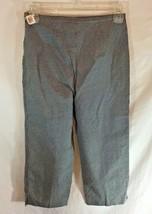 """New Talbots Kids Sz 10 Capri Pants Black White 25 in Waist 18"""" Inseam - $12.16"""