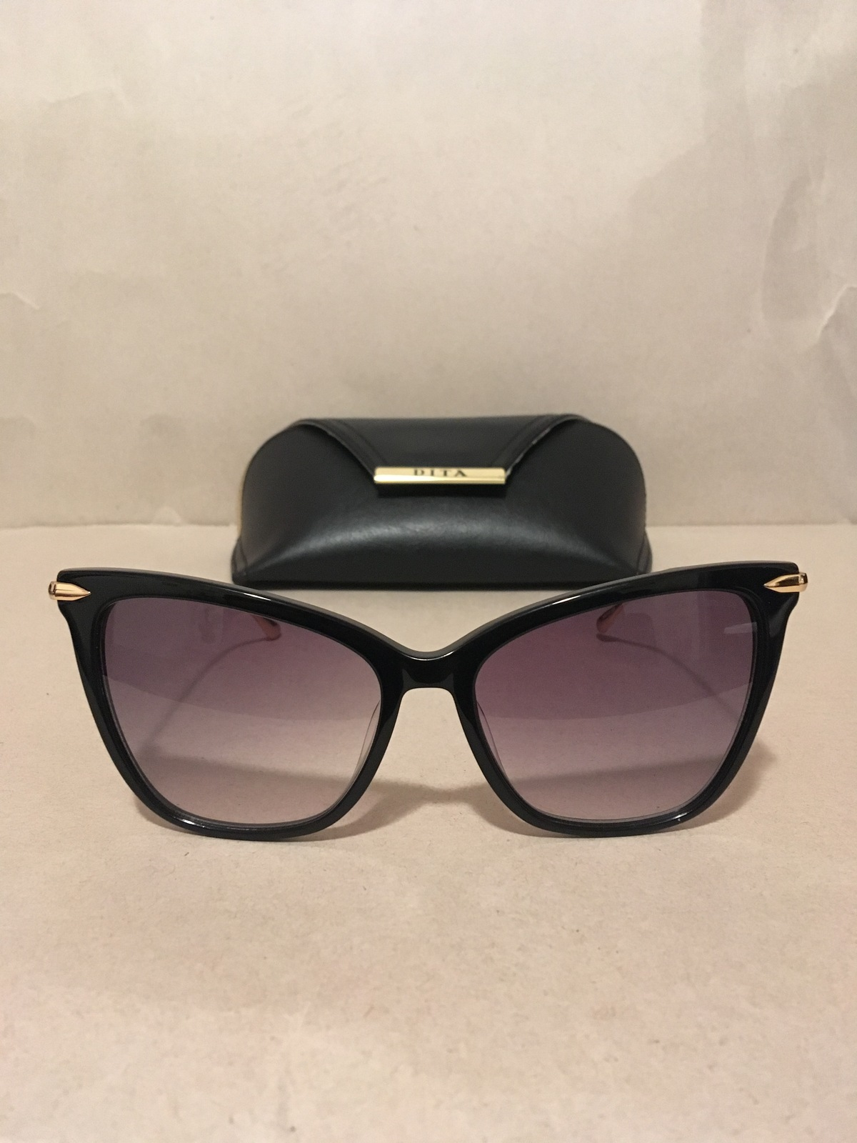 New Women Dita Fearless Sunglasses Black and Gold Frame with Purple Lens - $250.00