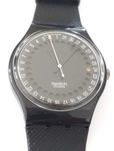 Vintage Swatch Watch GB414 Spot Flash Night Vision Black with Date 1991 NOS - $67.90